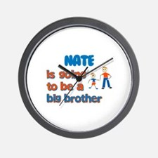 Nate - Going to be a Big Brot Wall Clock