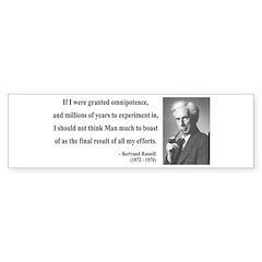 Bertrand Russell 11 Bumper Bumper Sticker