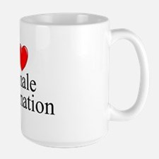 """I Love (Heart) Female Domination"" Mug"