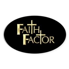 Faith Factor Oval Decal