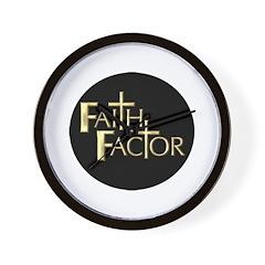 Faith Factor Wall Clock