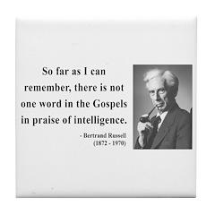 Bertrand Russell 8 Tile Coaster