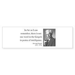 Bertrand Russell 8 Bumper Bumper Sticker