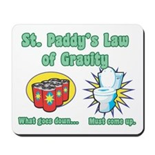 St. Paddy's Law of Gravity Mousepad