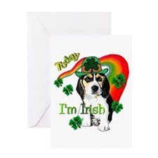 St. Pattys Beagle Greeting Card
