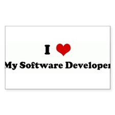 I Love My Software Developer Rectangle Decal