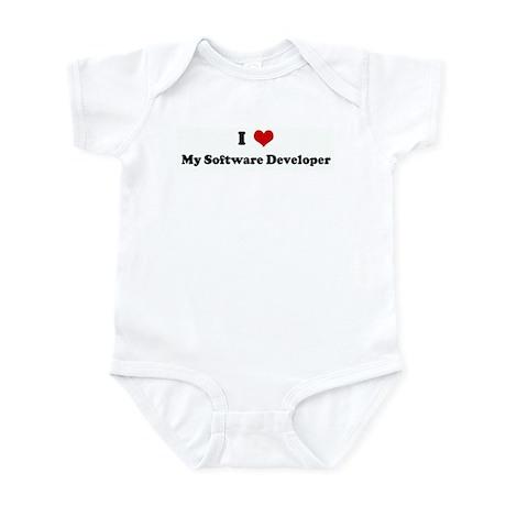 I Love My Software Developer Infant Bodysuit