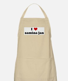 I Love samina jan BBQ Apron