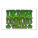 Irish Drinking Team Rectangle Sticker