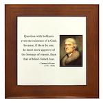 Thomas Jefferson 5 Framed Tile