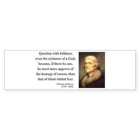 Thomas Jefferson 5 Bumper Sticker