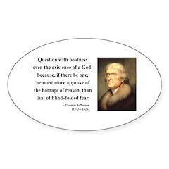 Thomas Jefferson 5 Oval Decal