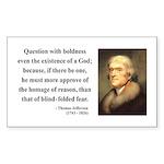 Thomas Jefferson 5 Rectangle Sticker