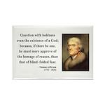 Thomas Jefferson 5 Rectangle Magnet (10 pack)