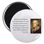 "Thomas Jefferson 5 2.25"" Magnet (10 pack)"
