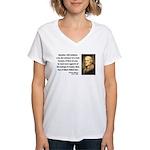 Thomas Jefferson 5 Women's V-Neck T-Shirt