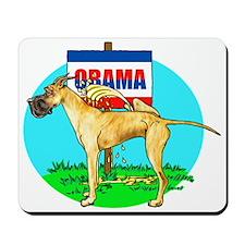 Brindle Dane Pi$$ on Obama Mousepad