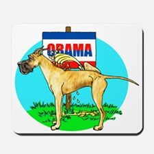 Brindle Dane Pi$$ on Obama Mousepad