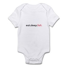Eat Sleep Felt Infant Bodysuit