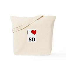 I Love SD Tote Bag
