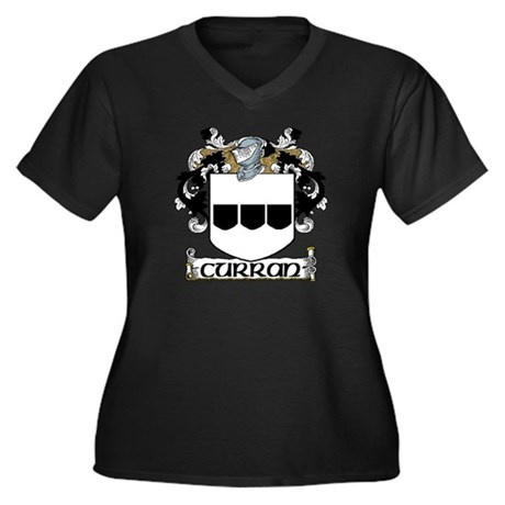 Curran Arms Women's Plus Size V-Neck Dark T-Shirt