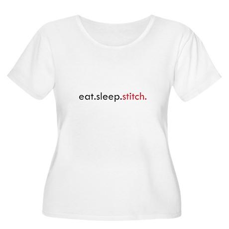 Eat Sleep Stitch Women's Plus Size Scoop Neck T-Sh