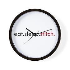 Eat Sleep Stitch Wall Clock