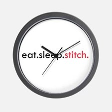 Eat Sleep Stitch Wall Clock