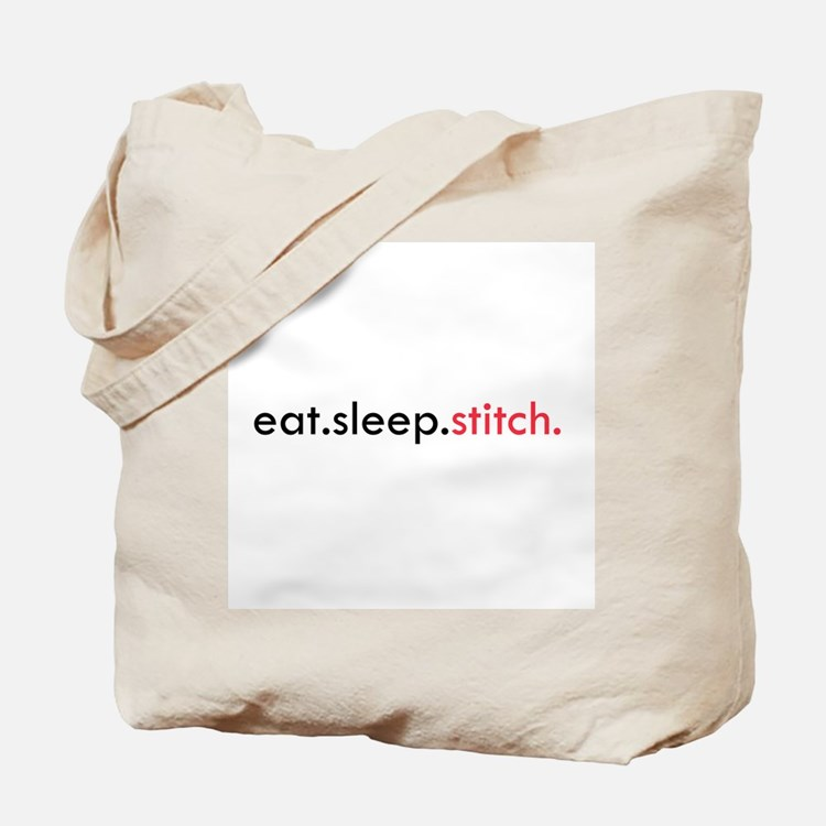 Eat Sleep Stitch Tote Bag