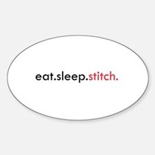 Eat Sleep Stitch Oval Decal