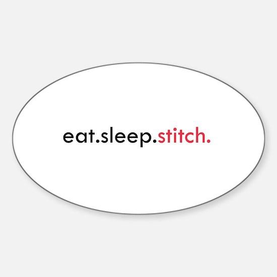 Eat Sleep Stitch Oval Decal