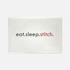 Eat Sleep Stitch Rectangle Magnet (10 pack)