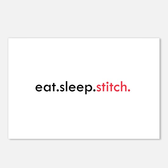 Eat Sleep Stitch Postcards (Package of 8)
