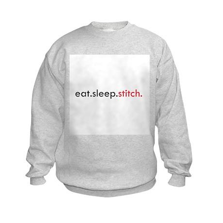 Eat Sleep Stitch Kids Sweatshirt
