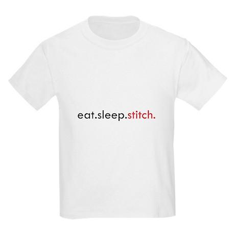 Eat Sleep Stitch Kids Light T-Shirt