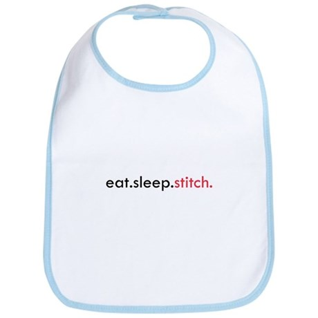 Eat Sleep Stitch Bib