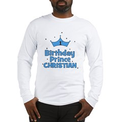 Christian 1st Birthday Prince Long Sleeve T-Shirt