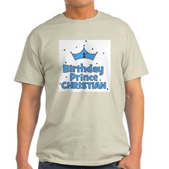 Christian 1st Birthday Prince Light T-Shirt