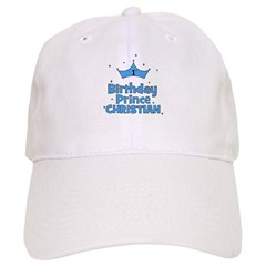 Christian 1st Birthday Prince Baseball Cap