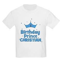 Christian 1st Birthday Prince T-Shirt