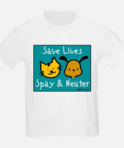 Save Lives Spay & Neuter Kids T-Shirt