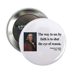 "Benjamin Franklin 15 2.25"" Button"
