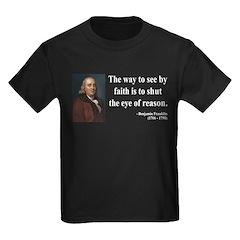 Benjamin Franklin 15 Kids Dark T-Shirt