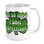 I'm So Irish I Shit Leprechauns Large Mug