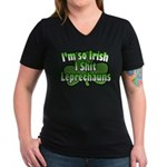 I'm So Irish I Shit Leprechauns Women's V-Neck Dar
