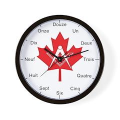 French Canadian Masonic Wall Clock