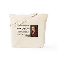Thomas Paine 22 Tote Bag