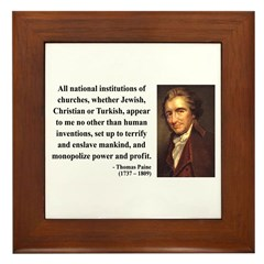 Thomas Paine 22 Framed Tile