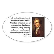 Thomas Paine 22 Oval Decal