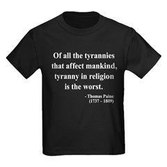 Thomas Paine 21 Kids Dark T-Shirt